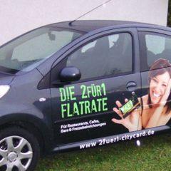 Raithel Werbetechnik und Textildruck - 2 für 1 Citycard - Fahrzeugbeschriftung
