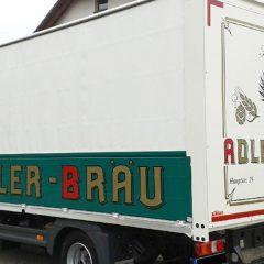 Raithel Werbetechnik und Textildruck - Adler-Bräu - Fahrzeugbeschriftung