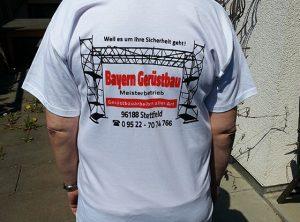 Textildruck | Bayern Gerüstbau | Stettfeld