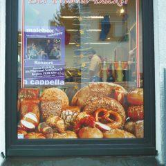 Raithel Werbetechnik und Textildruck - Der frische Bäcker - Schaufensterbeklebung