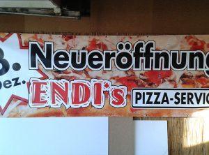 Werbeplane | Endis Pizzaservice | Schammelsdorf