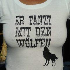 Raithel Werbetechnik und Textildruck - Er tanzt mit den Wölfen - Textildruck