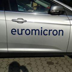 Raithel Werbetechni und Textildruck - Euromicro - Fahrzegbeschiftung