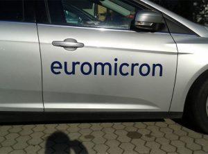 Fahrzeugbeschriftung | euromicro AG | Bamberg