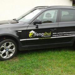 Raithel Werbetechnik und Textildruck - Fengshui Arrangement - Fahrzeugbeschriftung