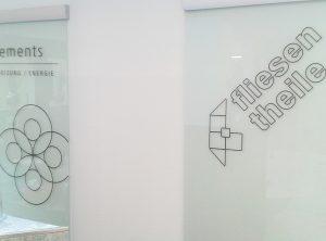 Glastürenbeschriftung | Fliesen Theile | Bamberg/Hallstadt | Litzendorf/Pödeldorf