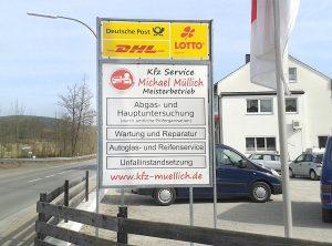 Schilder | KFZ Service Müllich | Oberhaid