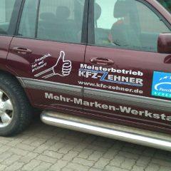Raithel Werbetechnik und Textildruck - KFZ Zehner - Fahrzeugbeschriftung