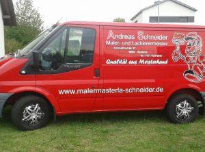 Fahrzeugbeschriftung | Maler- und Lackiermeister Anderas Schneider aus Bamberg