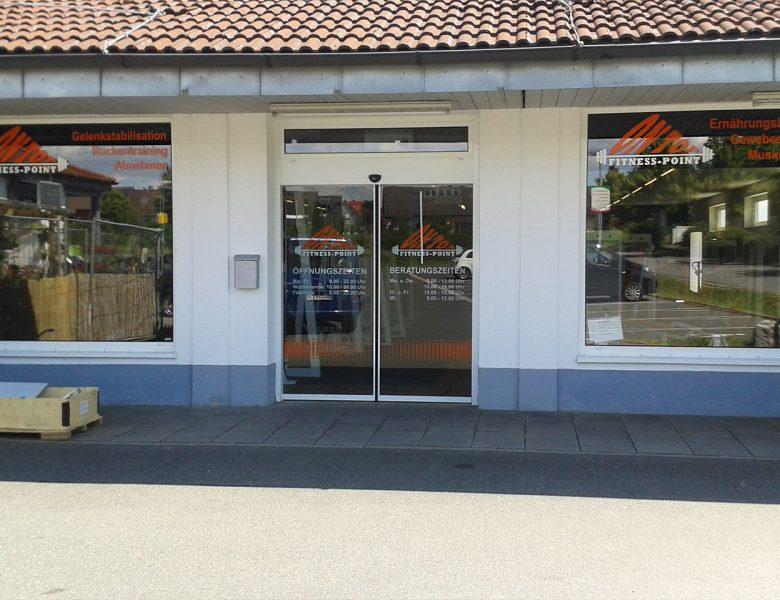 Raithel Werbetechnik und Textildruck - Fitness Point - Schaufensterbeklebung