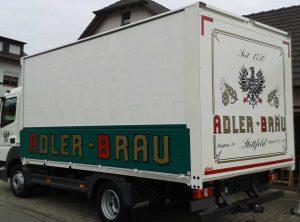 Fahrzeugbeschriftung | Adler Bräu | Stettfeld