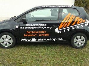 Fahrzeugbeschriftung   OnTop Fitness   Bamberg/Hallstadt   Scheßlitz   Rattelsdorf   Hirschaid