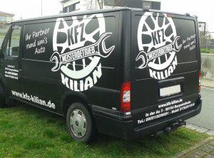 Fahrzeugbeschriftung   KFZ Kilian   Burgwindheim