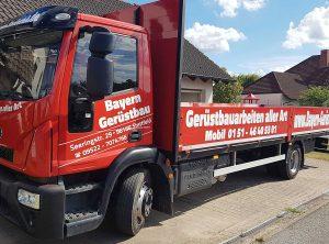 Fahrzeugbeschriftung | Bayern Gerüstbau – Stettfeld