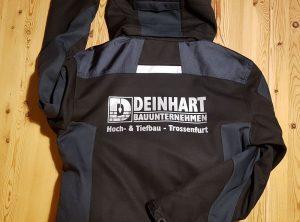 Textildruck | Deinhart Bauunternehmen | Oberaurach/Trossenfurt