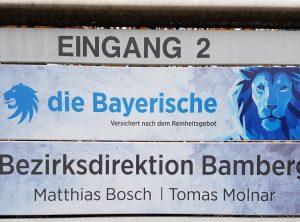 Schilder | Die Bayerische – Versicherung | Bamberg