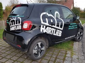 Fahrzeugbeschriftung | Fa. Hartlieb – Kies | Kieswerk | Stettfeld