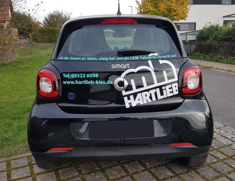 Raithel Werbetechnik und Textildruck - Fahrzeugbeschriftung - Fa. Hartlieb -Kieswerk - Stettfeld