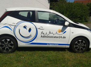 Fahrzeugbeschriftung | Administrator 24.de | It-Spezialist | Bischberg/Bamberg