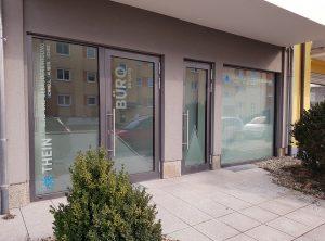 Schaufensterbeschriftung | Thein Glas- u. Gebäudereinigung | Bamberg