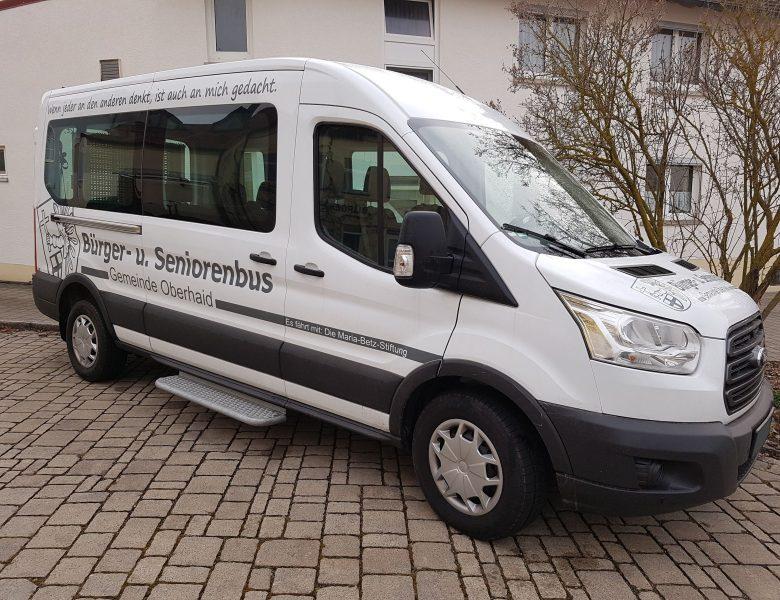 Raithel Werbetechnik und Textildruck - Fahrzeugbeschriftung - Gemeinde Oberhaid - Bürger- und Seniorenfahrzeug