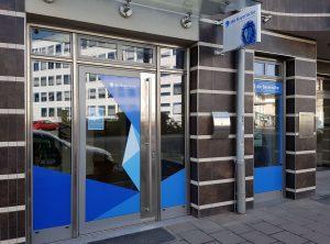 Schaufensterbeschriftung | Die Bayerische Versicherung | Bamberg
