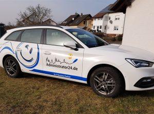 Fahrzeugbeschriftung   Administrator24.de   IT Spezialist   Bischberg/Bamberg