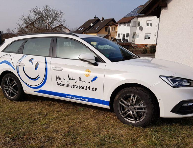 Raithel Werbetechnik und Textildruck - Administrator24.de - Bamberg/Bischberg -  Fahrzeugbeschriftung
