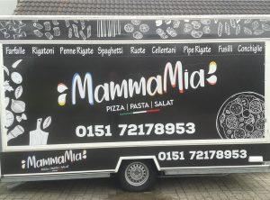 Fahrzeugbeschriftung   Mamma Mia   Pizza Stand   Bamberg