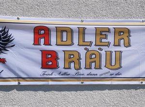 Textildruck | Fahne | Adler Bräu | Stettfeld