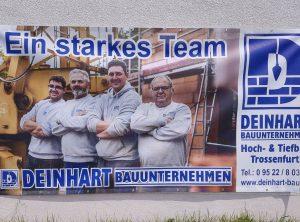 Bauzaunbanner | Deinhart Bauunternehmen | Oberaurach/Trossenfurt