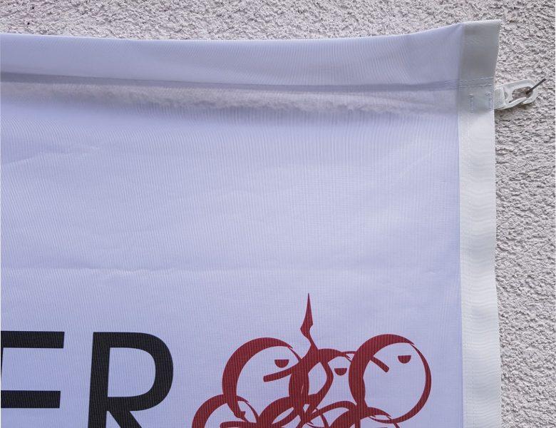 Raithel Werbetechnik und Textildruck - Weinbau Auer - Unterhaid - Fahne