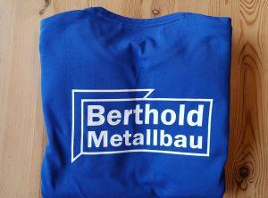 Textildruck | Berthold Metallbau | Unterhaid