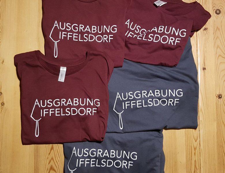 Raithel Werbetechnik und Textildruck - Textilsiebdruck - Ausgrabung Iffelsdorf - Fa. digRoma - Bamberg