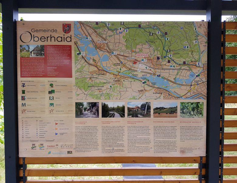 Raithel Werbetechnik und Textildruck - Gemeinde Oberhaid - Schild - Aludibond mit Digitaldruck - Oberhaid