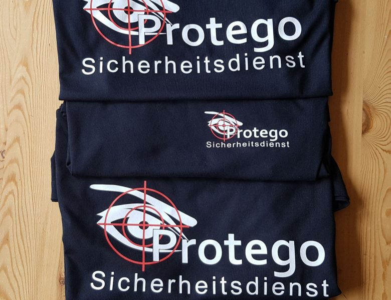 Raithel Werbetechnik und Textildruck - Protego Sicherheitsdienst - Flexplott - T-shirt