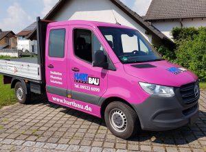 Fahrzeugbeschriftung | H.A.R.T. Bau GmbH | Stettfeld