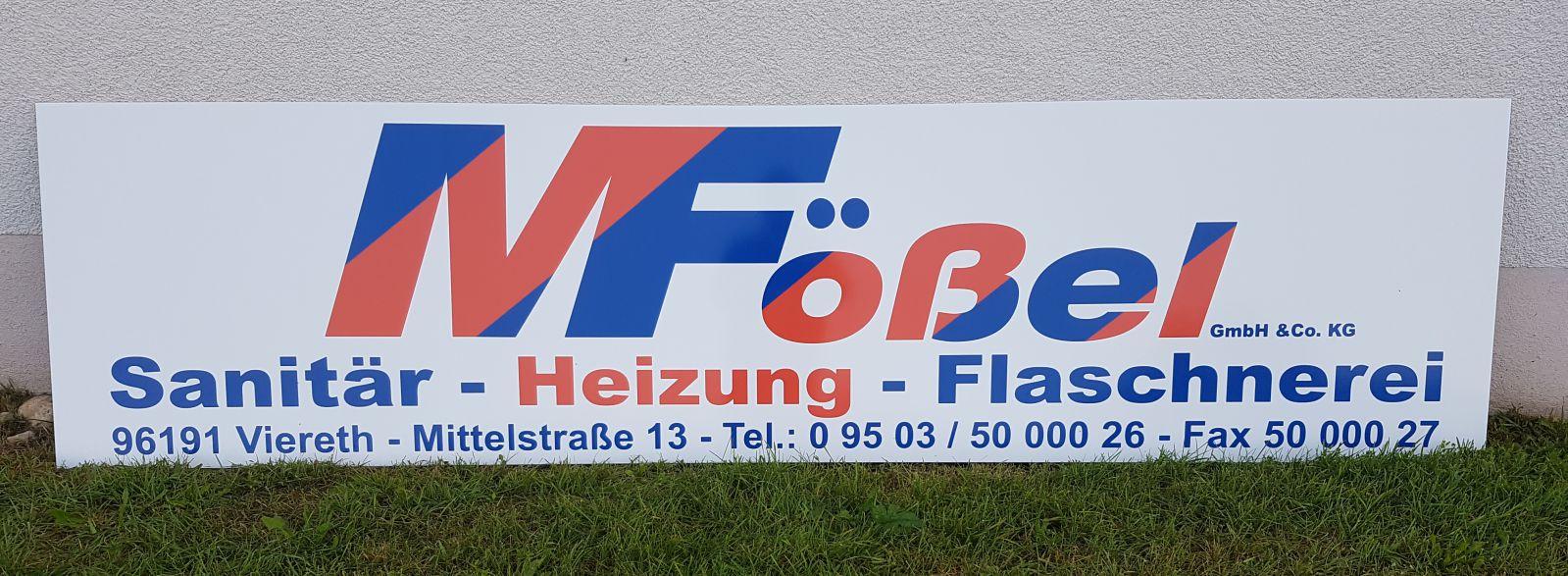 Raithel Werbetechnik und Textildruck - Sanitär Fößel - Viereth - Bandenwerbung - 1. FC Oberhaid