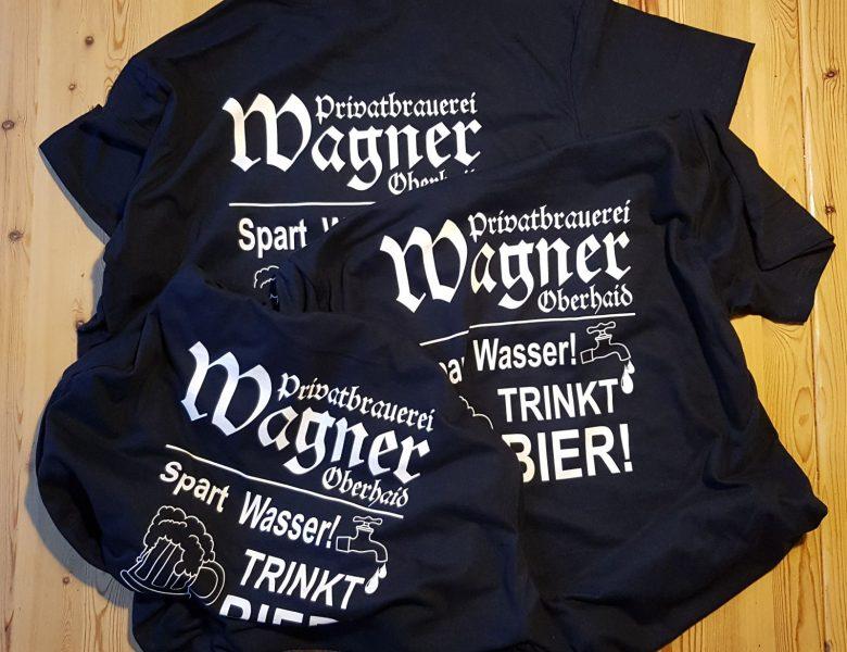 Raithel Werbetechnik und Textildruck - Brauerei Wagner - Oberhaid - Textildruck - Flexplott